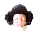 newborn princess hat baby bun hat newborn wig hat photography prop crochet hat fantasy play