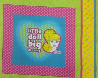 Barbie Fabric Panel 35 Inches