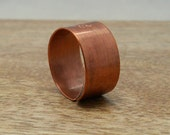 Men's Monogram Initial Ring Personalized Gift for Him Rustic Copper Band Personalized Men's Jewelry