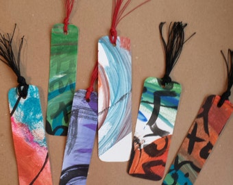 Handpainted bookmarks