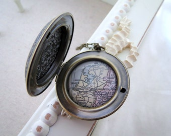 Netherlands Map Locket  Necklace