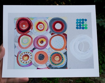 Reflection - Reproduction print of original abstract artwork on archival matte paper