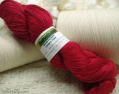 Hand painted Mousoucot Bamboo/Cotton yarn, 4 oz, Red Kimono