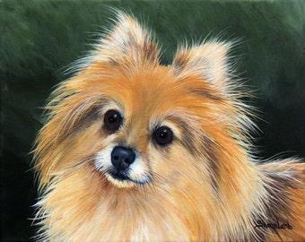 Pet Painting 4 x 6 Custom Pet Portrait Painting  Your Dog Cat Horse Artist Sharon Lamb