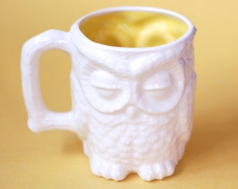 Ceramic Owl Mug- Handcast Ceramics - Ceramics and Pottery - Modern Ceramics