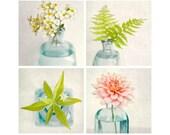 Flower Print Set, Floral Art, Flower Photos, Botanical Art, Still Life Art, Floral Photographs, Flower Art, Fine Art Photography, Set of 4