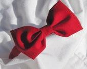 RED BOW Tie Headband Hairband