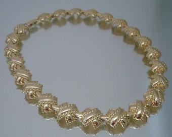 1960's X Necklace Gold Tone Unused Vintage