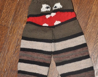 Custom Knit to your Specifications Monster Face Knit Pants / Longies