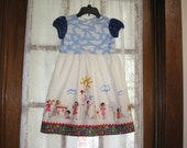 Size 5 Girl Dress With Cap Sleeves Sarah Jane Let's Pretend Fabric