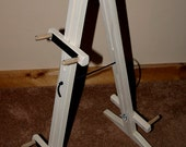 Hand-Made Mountain Dulcimer Double Stand with Optional Music Clipboard