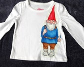 Gnome Long Sleeve Tee, 12 months