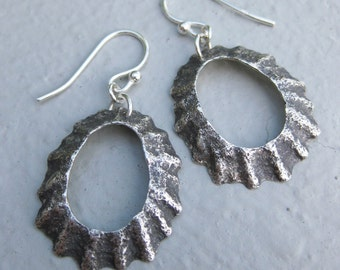 Ballinskellig's LIMPET sterling silver earrings