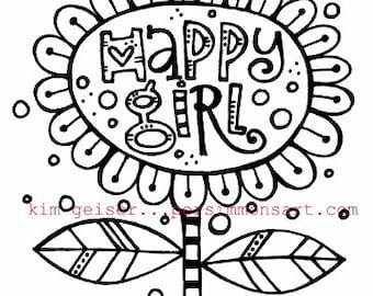 Happy Girl Digital Download