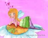 Art for Children, Lovestruck Fairy Art Print, 8x10
