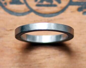 Platinum wedding band, modern wedding ring, 950 platinum ring, brushed wedding band, unisex wedding band, recycled ring eco friendly, custom