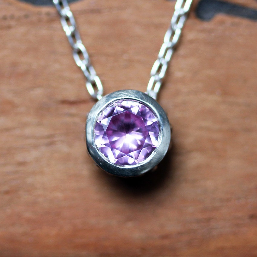 pink tourmaline necklace october birthstone necklace. Black Bedroom Furniture Sets. Home Design Ideas