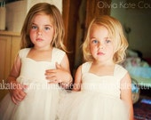 As seen on Brides.com . Natural Flower Girl Dress