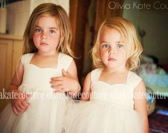 As seen on Brides.com . Natural Flower Girl Dress