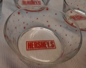 Vintage Collectible Hershey's Bowls Set of Six