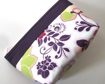 Floral Zipper Makeup Bag Zipper Pouch Small Makeup Pouch Cosmetic Bag