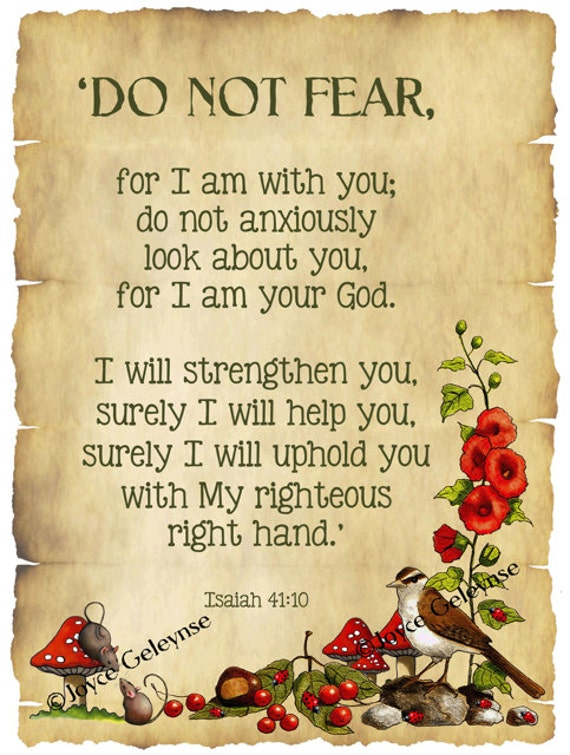 Do Not Fear What Others Think And Decorate For Yourself: Items Similar To Bible Verse, Isaiah, Do Not Fear: Nature