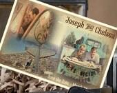 Engagement Photo Postcard Save the Date - Vintage - Design Fee