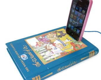 SALE IPhone Dock Charging Station, Wizard of Oz Book IPod Docking Station Charger, Mobile Device Accessories