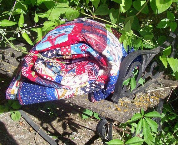 Americana Patchwork Quilt