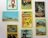 Eight Vintage Souvenir Playing Cards