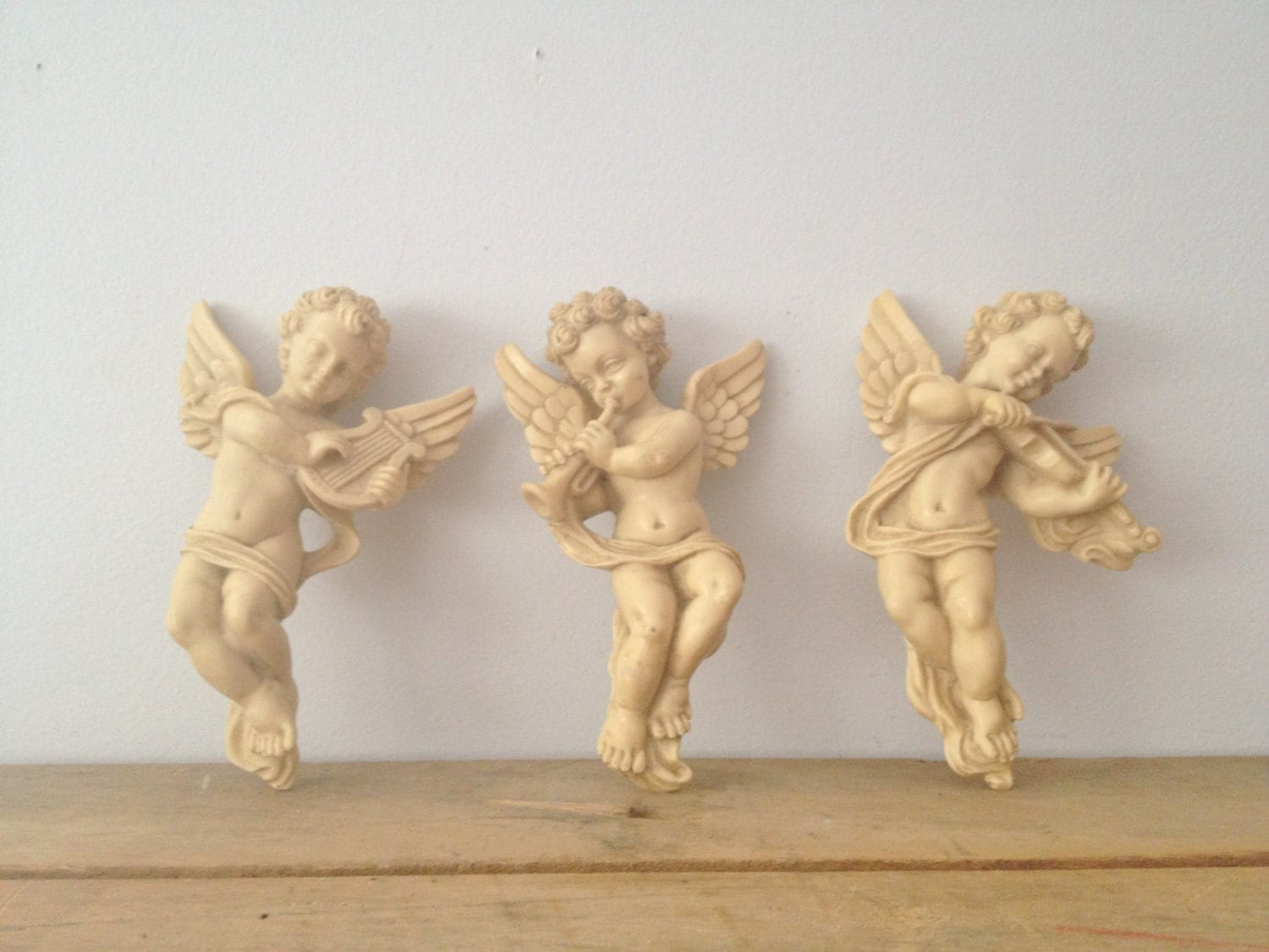 Angel Wall Hanging Cherubs Trio Of Angels By Lillyqueenvintage