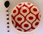 Really Red patterned bowl. Ready to ship
