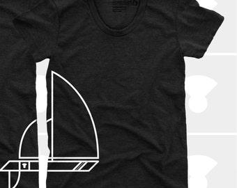 Sailboat Women's TShirt, Tee, Girls, Womens Top, S,M,L,Xl, Sailing, Nautical, Boating, Cute, Boat, Black, Shirt (5 Colors) T-Shirt for Women