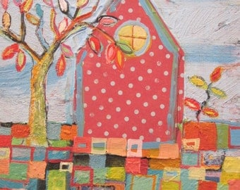 Original painting by Michelle Daisley Moffitt.....Polka Dot House