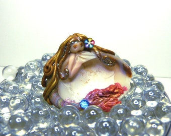 ooak ogld Unique hand sculpted Miniature Polymer Clay Hand sculpted Mermaid PR006604