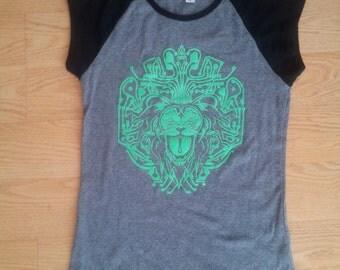 SALE! Cyber Lion Women's Cap Sleeve shirt