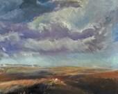 Original Landscape Oil on Canvas: Home Sick