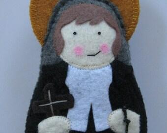 Saint Louis de Montfort Felt Saint Softie
