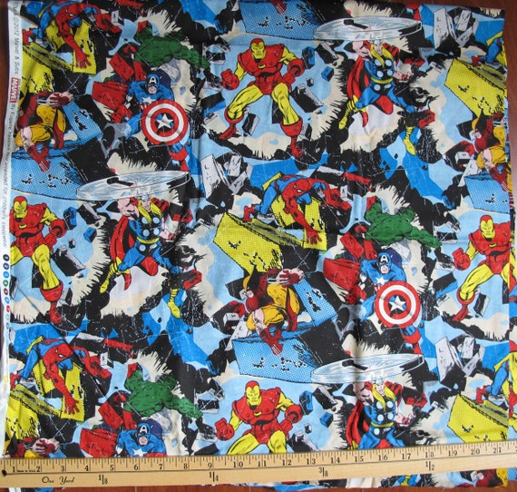 Marvel's Avengers Fabric Fat Quarter 18x21 By NameThatCandy