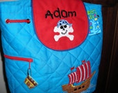 Personalized Stephen Joseph Quilted Back Pack Pirate by Never Felt Better