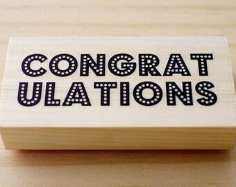 Rubber stamp - congratulation
