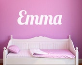 Child's Name Wall Decal - Fancy Script Wall Decal - Personalized Wall Decal - Name Wall Decal - Kid Name Decal - Baby Name Decal - WD1008