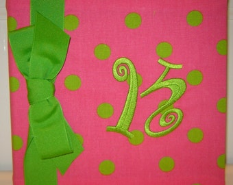 Hot Pink and Lime Photo Album