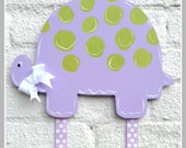 Turtle Bow Holder, Hair Bow Holder, Bow Keeper, Girl Decor, Hand Painted, Personalized, Girl, Ballet, Hair Clip Holder, Clip Holder