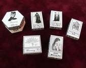 Dollhouse Miniature Printable Digital - Collection of Victorian Mourning Boxes
