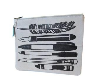 Write ) ZipPouch ) Grey