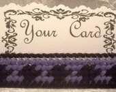 Business Card Holder - Purple and Black - Plastic Canvas