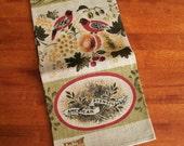 Unused Vintage Linen Towel - American Stenciling - Kay Dee MWT
