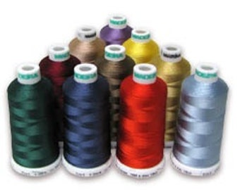 Madeira Classic Rayon 40 Thread 1100 yards-Solid Colors Only.  5 Spool minimum.  FREE First Class mail shipping.