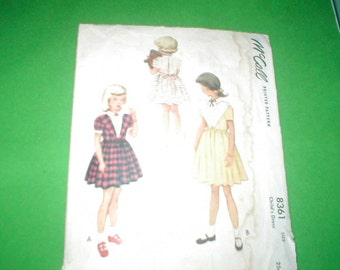 Vintage McCalls Sewing Pattern Childs dress size 6
